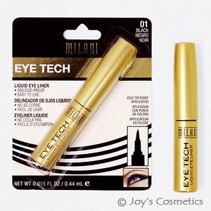 "1 MILANI Eye Tech Feutre Pointe Liquide Doublure - "" Mtl 01 - Noir "" Joy's"