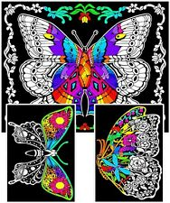 Geo Butterfly - Large 23x20 Inch Fuzzy Velvet Coloring Poster