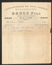 """DINAN (22) Fabricant en CORDONNERIE / CHAUSSURES pour ENFANT """"DAUCE Fils"""" 1905"""