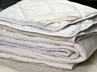 MERINO WOOL DUVET QUILT - WOOL & COTTON 100% NATURAL BED, ALL SIZES 10.5-8 TOG