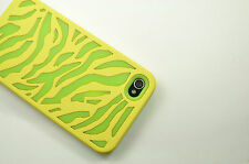 for iPhone 4 Zebra Hybrid Impact Soft Hard Cell Phone Case Cover Accessory 4G 4S