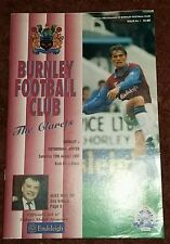 Burnley v Rotherham United Division 2 - Saturday August 12th 1995 - MINT