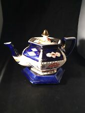 More details for antique vintage arthur wood queen a w & s imari tea pot and stand made england
