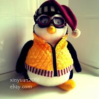 "RARE 18"" HARD TO FIND HUGGSY PENGUIN WITH GOGGLES AND VEST FRIENDS Joey's hugsy"