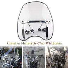 "7/8"" & 1"" Handlebars Motorcycle Clear Windshield Windscreen Hardware Mount Kits"