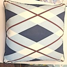 Tommy Hilfiger Buckaroo Argyle Decorative Pillow - 18 x 18 - Navy