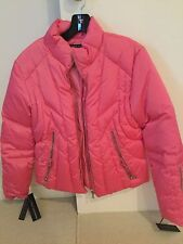 NWT Andrew Marc New York bubble gum pink ski jacket down puffer size L