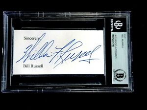 BILL RUSSELL FULL NAME WILLIAM F. RUSSELL SIGNED AUTOGRAPH CUT BECKETT CERTIFIED