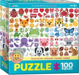 EuroGraphics Colors Emojis Puzzle Jigsaw Puzzle (100-Piece)