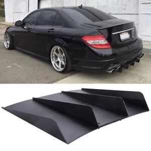 For Mercedes Benz C63 AMG Rear Diffuser 4 Fins Bumper Splitter Spoiler Lower Lip