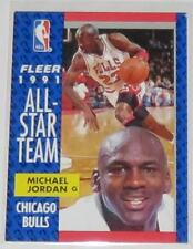 1991/92 Michael Jordan Chicago Bulls NBA Fleer 1991 All-Star Team Card #211 NM