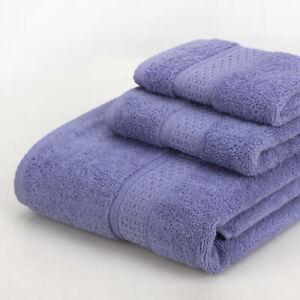 3-Piece Towels Set Square Towel & Soft Towel & Bath Towel Absorbent Multicolored