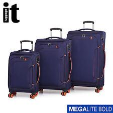 IT Luggage Megalite Bold 3 Trolley Suitcase Set TSA Travel Cabin Bag Lightweight
