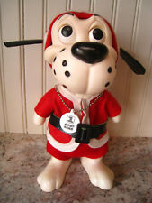 "Vintage 1968 SANTA DOG RDF 68 Dog Bank 8.5"" w/Original Stickers"