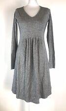 NOA NOA Grey Long Sleeve Jersey Style Fit & Flare Dress Size S