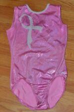 GK Elite Gymnastics Leotard Size Adult Large Pink Breast Cancer Awareness