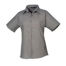 Maglie e camicie da donna grigi colletto classici