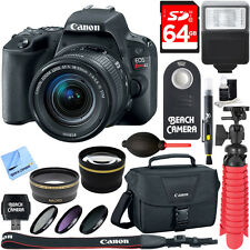 Canon EOS Rebel SL2 SLR Digital Camera + EF-S 18-55mm IS STM Lens Memory & Flash