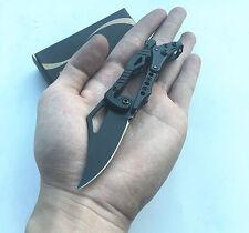 Mini Cute SR Mechanical Lock Black Stainless Steel Saber Knife New Pocket Gift