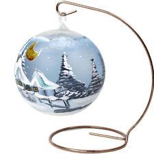 Tealight Tea Light Ball Light Sphere 12cm Blue Glass Christmas Ornament Stand