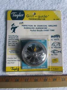 Vtg Taylor Grill Guide Thermometer No. 5964