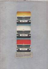 MERCEDES BENZ C107 280SLC 350SLC 450SLC ORIG. 1974-75 FACTORY UK SALES BROCHURE