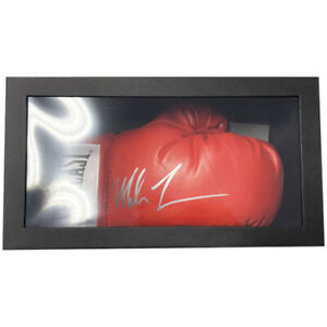 Mike Tyson Signed Glove in Display Box (Red Everlast)