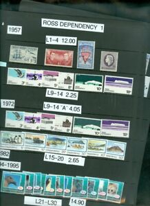 EDW1949SELL : ROSS DEPENDENCY Collection of all Diff. VF MNH Cplt sets. Cat $124