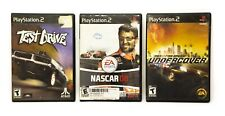 PS2 Lot of 3 Game Nascar08, Need for Speed Undercover, Test Drive