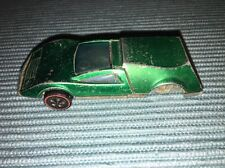 Vintage Mattel Hot Wheel Redline Tri-Baby 1969,Rare Green.missing Back Wheels