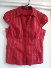 Short sleeve collared shirt, Jacqui E, Size 14