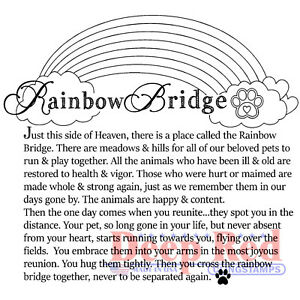 Deep Red Stamps Rainbow Bridge Rubber Cling Stamp