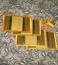Set Of 4 Rectangle Placemats 4 Coasters Woven From Taiwan With Elephant Patterns