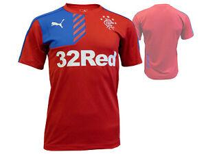Puma Glasgow Rangers FC Training Jersey rot Fußball Fan Shirt RFC Trikot S- XXL