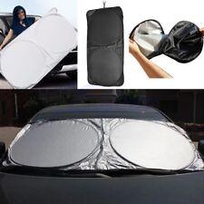 Folding Jumbo Front Rear Sun Shade Car Window Auto Visor Windshield Block Cover