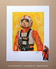 Star Wars LUKE X-WING PILOT Vintage Kenner Action Figure ORIGINAL ART PRINT 3.75