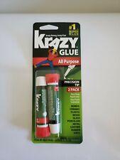 Krazy Glue All-Purpose Liquid 2 Pack, Precision-Tip Applicator .07oz
