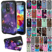 For Samsung Galaxy S5 G900 i9600 Rugged Hybrid Hard Rubber Silicone Cover Case