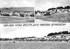 AK, Groß Stresow, Gruss vom Zeltplatz, vier Abb., 1974
