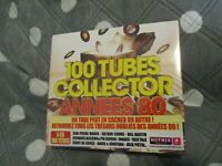 """COFFRET 5 CD DIGIPACK NEUF """"100 TUBES COLLECTOR ANNEES 80"""""""