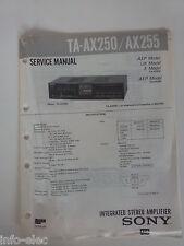 Schema SONY - Service Manual Integrated Stereo Amplifier TA-AX250 TA-AX255