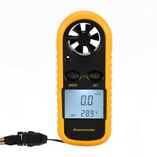 Anemometer Thermometer Air Wind Speed Velocity Flow Meter Gauge Bar Graph °C °F
