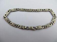 """Vintage Rare 925 Sterling Brush finished Modern Links Chain Bracelet 7.5"""""""