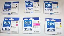 6 x Epson genuine 91/91N 2xB,C,2xM,Y (older) for TX100,TX110,CX5500,C90,T20++
