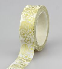 1X Gold Silver Foil Washi Tape Set Scrapbooking Decorative Adhesive Masking Tape