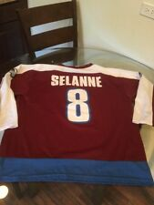 Vintage Colorado Avalanche Teemu Selanne Jersey Large Good Condition 6bbbe508d