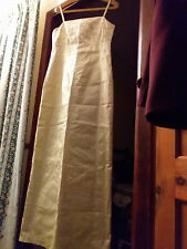 Pure Silk Full Length Lined Size 14 Dress Used Condition