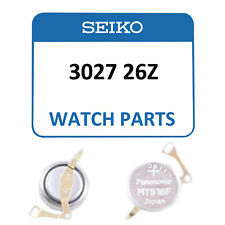 Genuine Seiko Kinetic Watch Capacitor 3027 26ZRechargeable Battery - NEW!