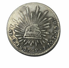 1840 8 Reales Republica Mexicana Silver Coin AUCTION