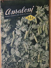 1951-ANSALONI ARTURO Piante e sementi per tutte le culture-BOLOGNA